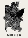 San Diego Kunstdrucke von  Mr City Printing