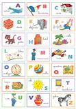 Alfabeto Italiano (Italian Alphabet) Illustration Poster Print