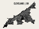 Cleveland Poster von  Mr City Printing