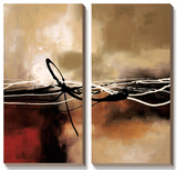 Symphony in Red and Khaki II Prints by Laurie Maitland