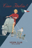 Vespa - Ciao Bella - Vintage Style Italian Poster Kunstdrucke