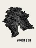 Zurich Affiches par  Mr City Printing