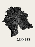 Zurich Prints by  Mr City Printing