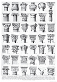 Architettura (Architecture) - Column Style Diagram Poster Posters