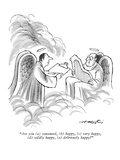 """Are you - New Yorker Cartoon Premium Giclee Print by Henry Martin"