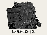 San Francisco Prints by  Mr City Printing