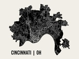 Cincinnati Prints by  Mr City Printing