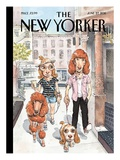 Dog Meets Dog - The New Yorker Cover, June 27, 2011 Regular Giclee Print by John Cuneo