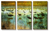 Cranes in Soft Mist I Art by Chris Vest