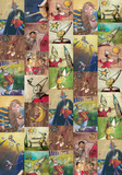 Pinocchio - Vintage Style Book Illustration Collage Poster Prints
