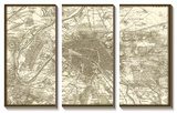 Sepia Map of Paris Art