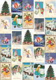 Christmas Cards - Vintage Style Italian Poster Prints