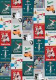Vespa E Lambretta - Vintage Style Italian Poster Collage Affiches