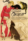 Vintage reclameposter dierenkliniek Cheron Posters