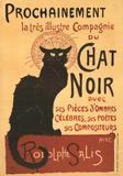 Vintage poster van Zwarte kat: Chat Noir Poster