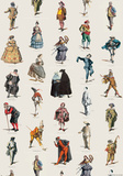 Maschere - Venetian Carnival Character Collage Poster Print
