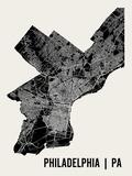 Philadelphie Affiche par  Mr City Printing