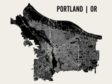 Portland Poster von  Mr City Printing