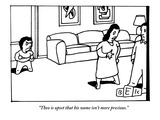 """Theo is upset that his name isn't more precious."" - New Yorker Cartoon Premium Giclee Print by Bruce Eric Kaplan"