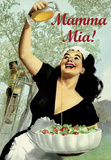 Mamma Mia - Vintage Style Italian Poster Poster