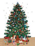 Christmas Tree - Vintage Style Italian Poster Photo
