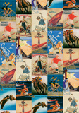 Vintage Style Sport Poster Collage Print