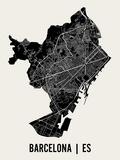 Barcelone Affiches par  Mr City Printing