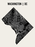Washington DC Affiche par  Mr City Printing