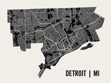 Detroit Posters af Mr City Printing