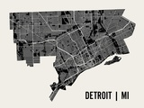 Detroit Posters by  Mr City Printing