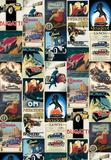 Vintage Cars - Vintage Style Italian Poster Collage Kunstdrucke