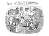 A white, middle-aged male is deemed: not the target demographic. In his li… - New Yorker Cartoon Premium Giclee Print by Roz Chast