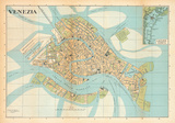 Mappa Di Venezia (Venice Map) - Vintage Style Italian Map Poster Posters