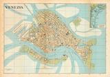 Mappa Di Venezia (Venice Map) - Vintage Style Italian Map Poster Posters