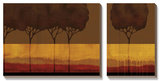 Autumn Silhouettes I Art by Tandi Venter
