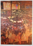 New York Stock Exchange Collectable Print by Bernie Fuchs