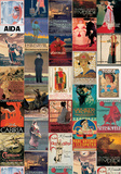 Opera Vintage Style Poster Collage Plakaty