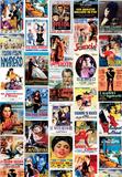 Vintage Style Italian Film Poster Collage Plakát