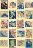 Regioni Italiane (Regional Maps of Italy)- Vintage Style Italian Map Poster Prints