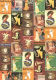 Café, anuncio vintage de café, póster collage Láminas