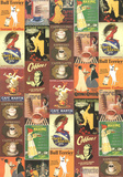 Caffe - Vintage Coffee Advertisement Poster Collage Prints