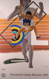 1972 Olympic Art (Series 2) Collectable Print by Peter Phillips