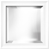RAMINO II White Mirror Wall Mirror