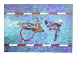 Swimmer Collectable Print by Robert Heindel