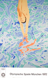 1972 Olympic Art (Series 2) Collectable Print by David Hockney