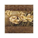Golden Daffodils II Giclee-trykk av Linda Thompson