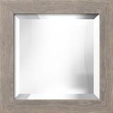 LANCASTER Gray Wide Mirror Wall Mirror