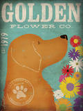 Golden Flower Co. Posters by Stephen Fowler