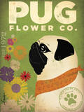 Pug Flower Co. Poster by Stephen Fowler