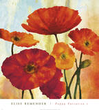Poppy Variation 1 Posters by Elise Remender